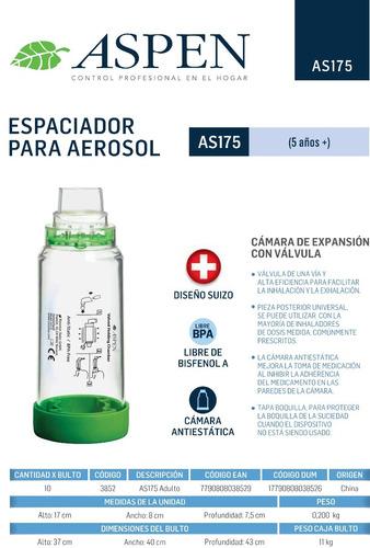 aerocamara aspen espaciador para aerosol adulto +5 años