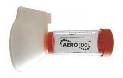 aerocamara valvulada tipo aerochamber. aero100