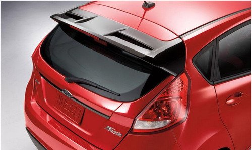 aerofólio abs com logo ford new fiesta hatch st racing 12-19