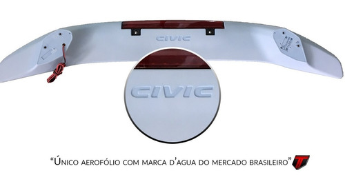 aerofólio abs p/ civic 20172019 g10 c/ breaklight hd027