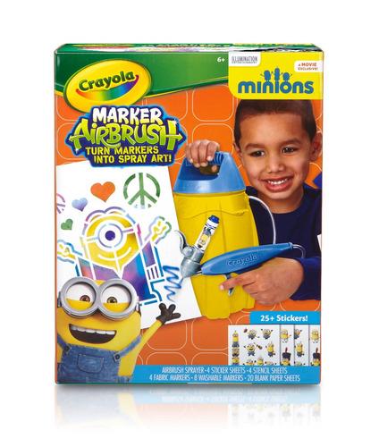 Aer grafo crayola marker airbrush minions r 99 90 em for Aerografo crayola amazon