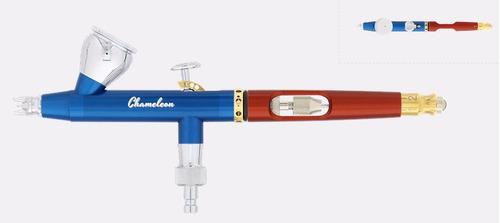 aerógrafo harder & steenbeck chameleon blue / red 133016