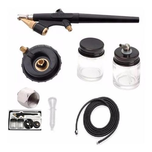 aerografo  kit completo acción simple  air brush aerografía
