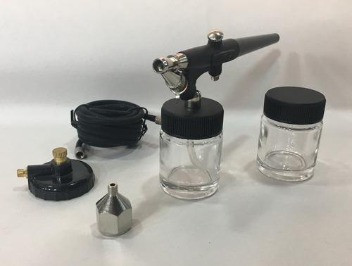 aerografo olympo simple acción c/manguera, frascos p/succión