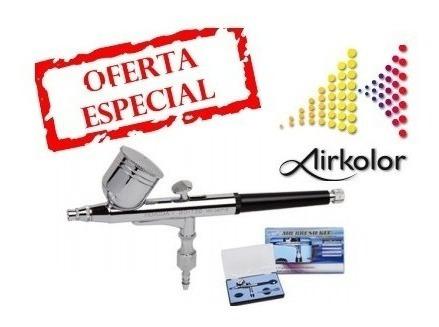 aerógrafo profesional doble  acción / acero bd-130/ garantia