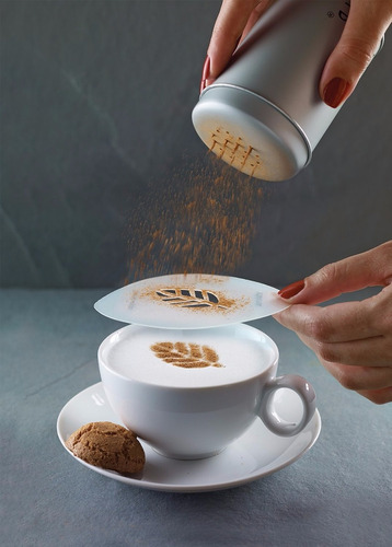 aerolatte cappuccino art stencils, 6-piece