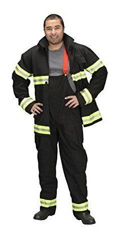 aeromax adulto bombero traje de chicago, pequeno, negro
