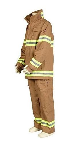 aeromax jr. los angeles traje de bombero, tostado, talla 8 1