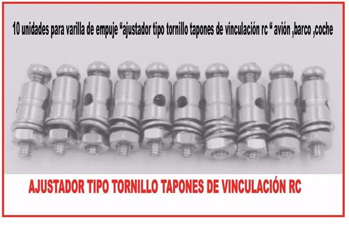 aeromodelismo  ajustadores tipo tornillo para varillas rc