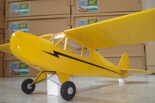 aeromodelismo avión rc piper j3 env. 1,82 arf
