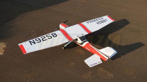 aeromodelo cessna 120cm montado radio motor lipo completo