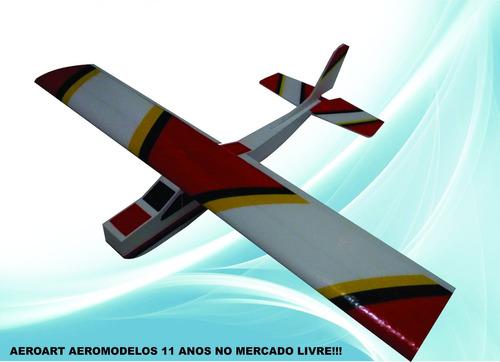aeromodelo cessna 182 kit para montar em isopor p5 e depron