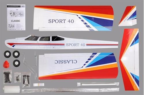 aeromodelo classic 40-46 - treinador arf glow ou eletrico