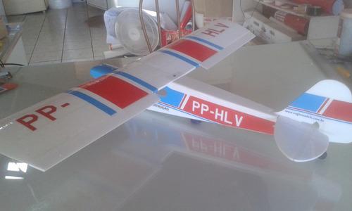aeromodelo elétrico paulistinha azul claro