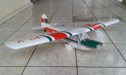 aeromodelo elétrico paulistinha verde escuro