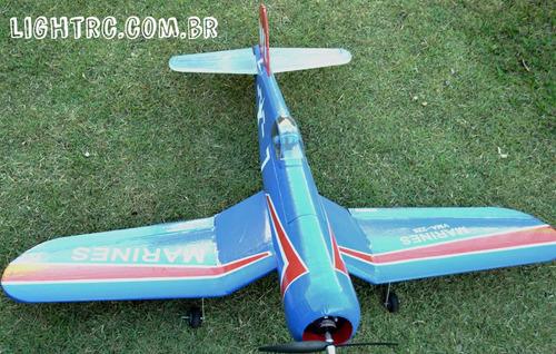 aeromodelo f4u corsair - 1,3m - kit para montar - warbird