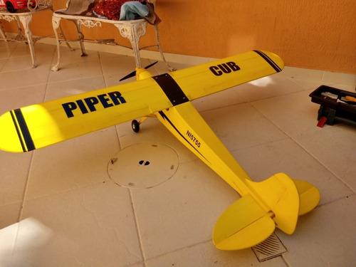 aeromodelo piper j3 cub elétrico top !!!!!! (impecável)