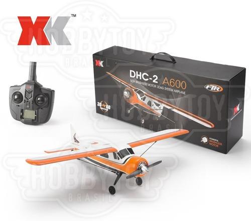 aeromodelo xk dhc-2 a600 motor brushless lipo 7.4v completo!