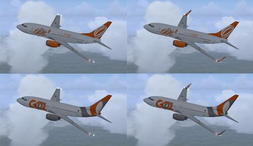 aeronave fsx - frota gol - boeing 737 (-700,-800,-8 e 10max)