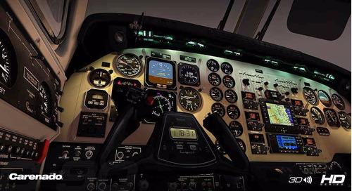aeronave king air para o simulador de voo fsx
