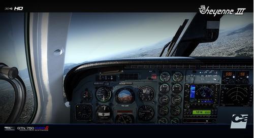 aeronave pa 42 cheyenne iii para simulador de voo fsx/p3d
