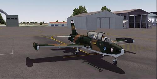 aeronave xavante para simulador de voo fsx