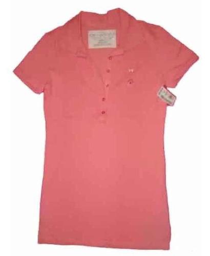 aeropostale usa remera cuello polo pink s envio gratis