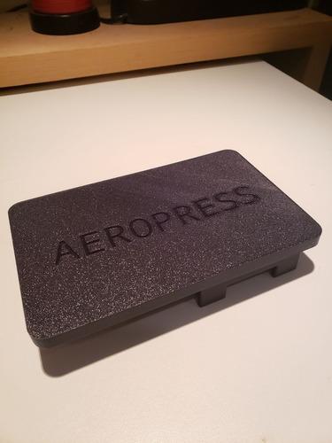 aeropress base organizadora de cafetera