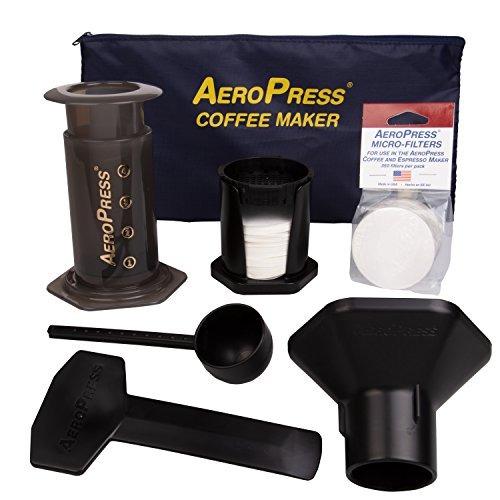aeropress café y cafetera exprés con bolso de mano y 350
