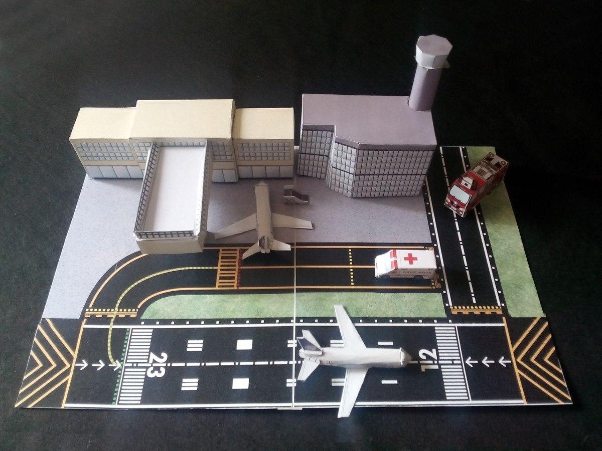 Aeropuerto Maquetas Escolares Armable E Imprimible Bs