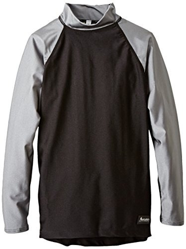 aeroskin nylon long sleeve rash guard con acento de color, n