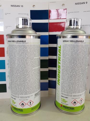 aerosol color de auto y laca transparente de 400ml c/u