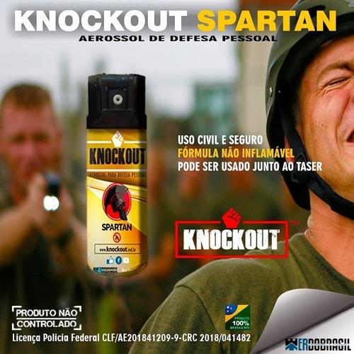 aerosol de defesa pessoal knockout original spartan 50g
