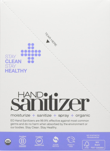 aerosol desinfectante para manos eo, lavanda orgánica fran