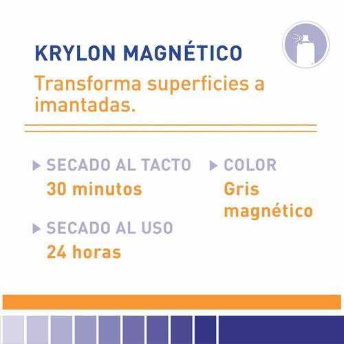 aerosol krylon magnético gris