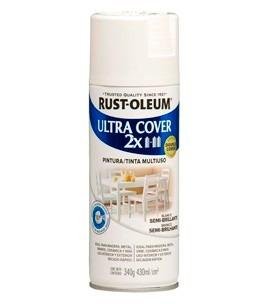 aerosol pintura ultra cover 2x esmalte blanco semi brillante
