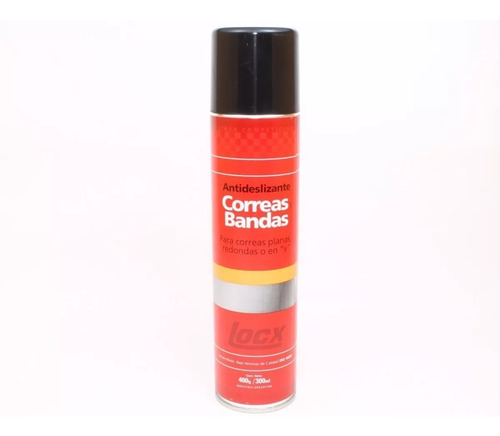 aerosol spray antideslizante para correas bandas locx 300ml