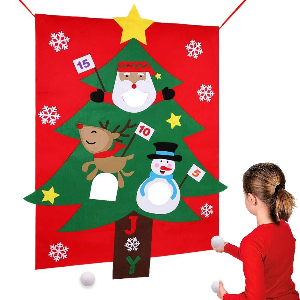 Aerwo Juegos De Navidad Para Ninos Fiesta Santa Bean Bag