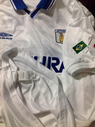 aethra unif.1 # 10 umbro 2003 bordada patch brasil japão g