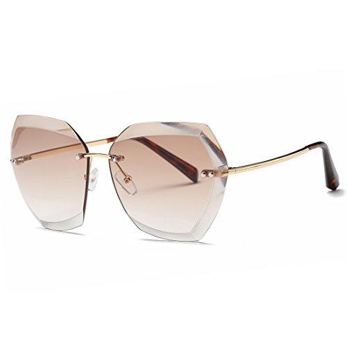 21f082a936 Aevogue Ae0534 Gafas De Sol Tamaño Grande Sin Marco Lente C - $ 88.990 en Mercado  Libre
