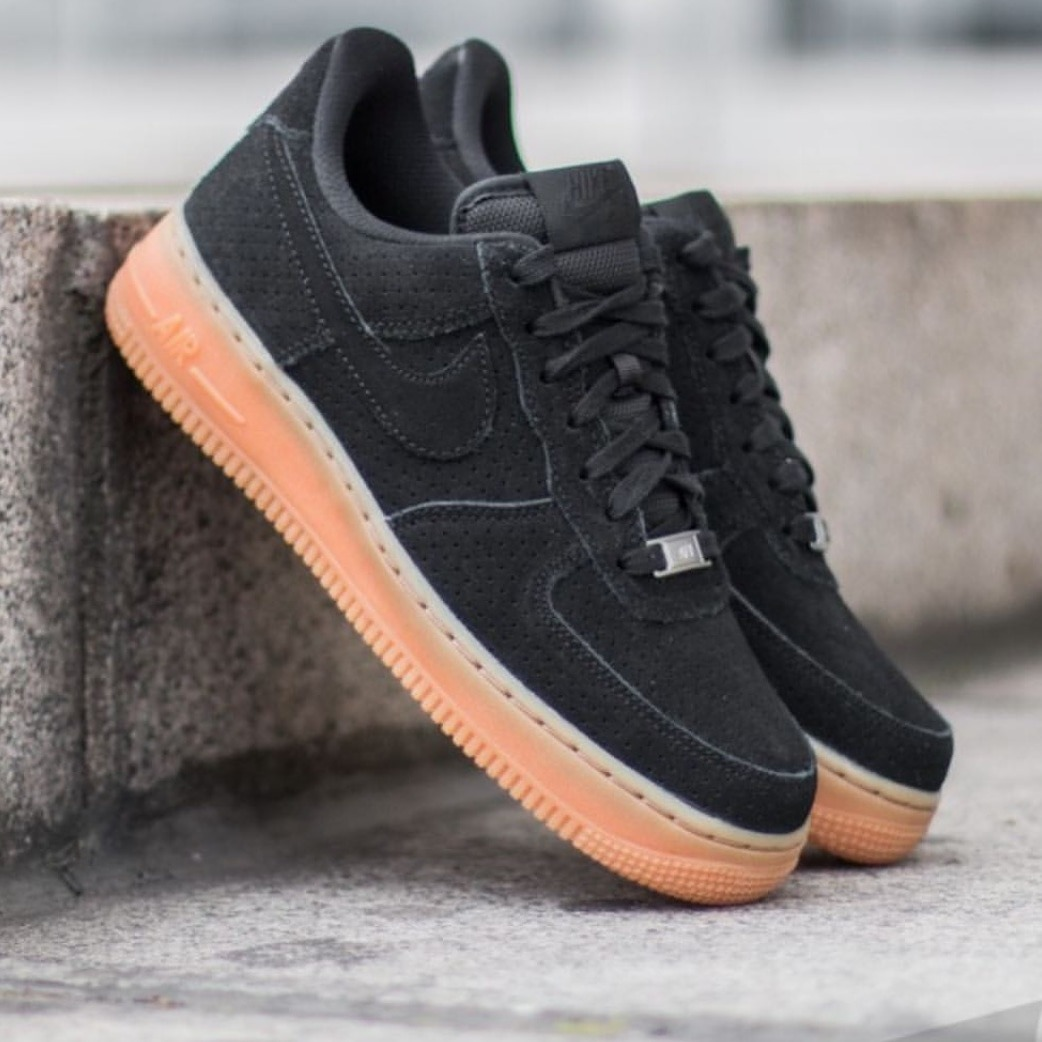 free shipping c6d0b 72dca Hombre Nike Air Force One Low Asteroid Zapatillas Negras Fire 488298 078