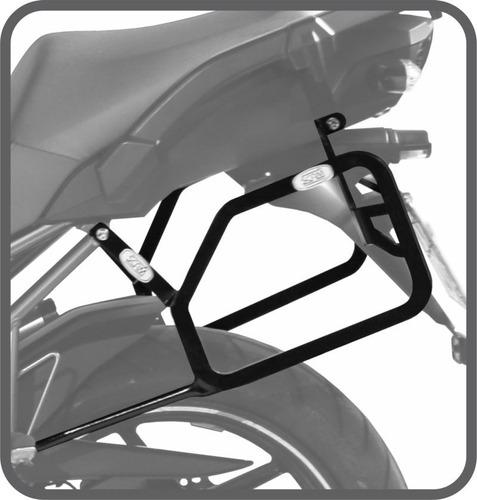 afastador alforge malas lateral versys 1000 até 2014 suporte