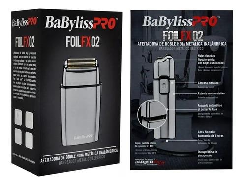 afeitadora babylisspro metalica doble hoja inalambrica  fx2