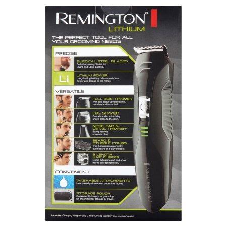 afeitadora barbera remington 3 en 1 lithium recargable