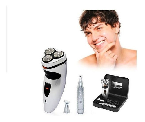 afeitadora eléctrica 3 en 1, con estuche