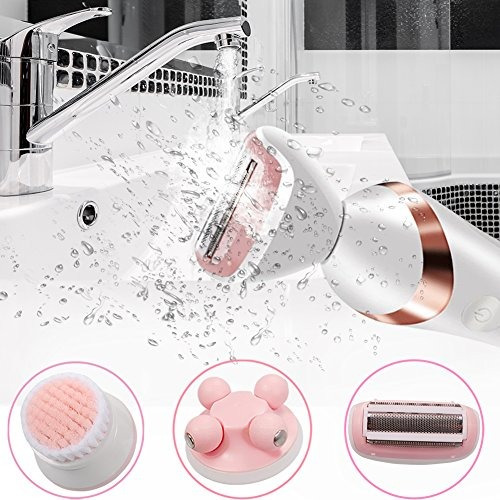 afeitadora electrica 3 en 1 para mujer mojada y seca cortado