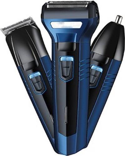 afeitadora eléctrica 3 en 1 progemei