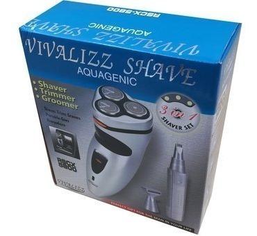 afeitadora eléctrica 3 en 1 vivalizz shave
