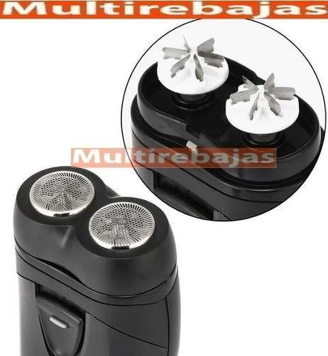 afeitadora eléctrica con doble cabezal afeitado perfecto