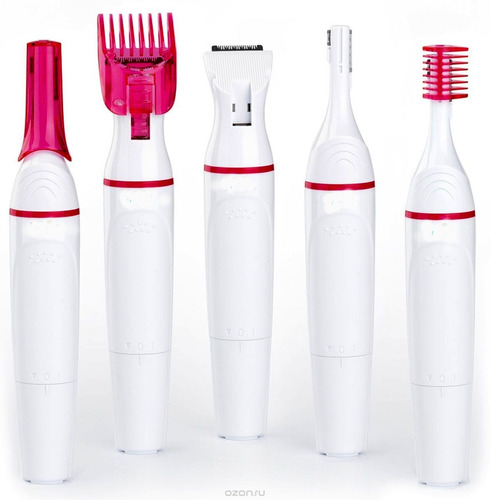 afeitadora eléctrica femenina cejas bikini axila 5cabezales